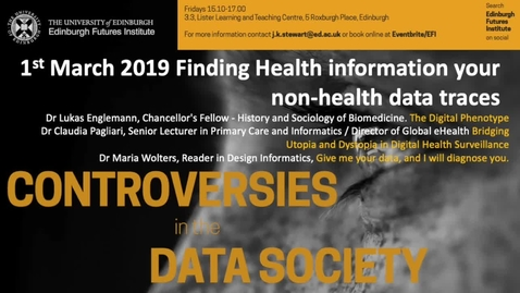 Thumbnail for entry Health information in non-health data traces - Wolters Englemann & Pagliari 2019
