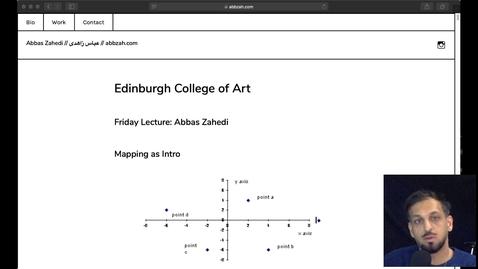 Thumbnail for entry Abbas Zahedi Artist Talk