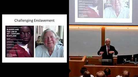 Thumbnail for entry Alan Watson Watson Memorial Lectures: Challenging Enslavement