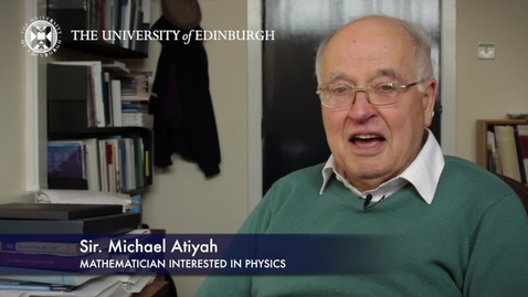 Thumbnail for entry Michael Atiyah- Mathematician Interested in Physics - Research In A Nutshell - School of Mathematics -04/03/2013