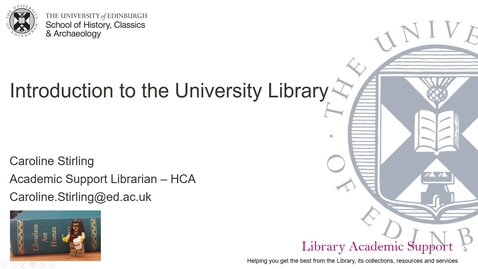 Thumbnail for entry Introduction to University Library - HCA (Online)
