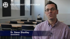 Thumbnail for entry Simon Shackley - Geoscience- Research In A Nutshell - School of GeoSciences -24/04/2012