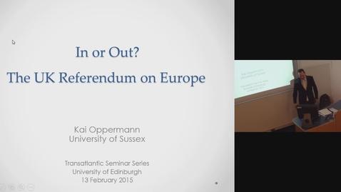 Thumbnail for entry Kai Oppermann (University of Sussex)