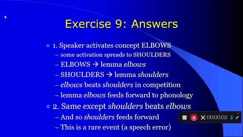 Thumbnail for entry Language Production Lecture 3 Part 10