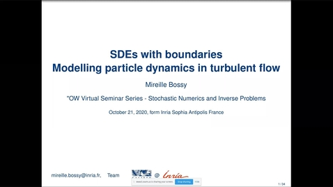 Thumbnail for entry One World Virtual Seminar Series - Stochastic Numerics and Inverse Problems: Mireille Bossy (INRIA)