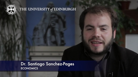 Thumbnail for entry Santiago Sanchez Pages-Economics -Research In A Nutshell-School of Economics-16/10/2012