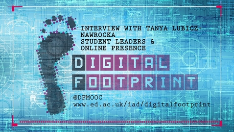 Thumbnail for entry Digital Footprint - Student leaders and online presence