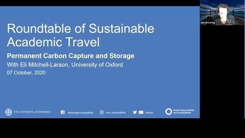 Thumbnail for entry Roundtable of Sustainable Academic Travel - Carbon Offsetting to Reach Net Zero - October 2020
