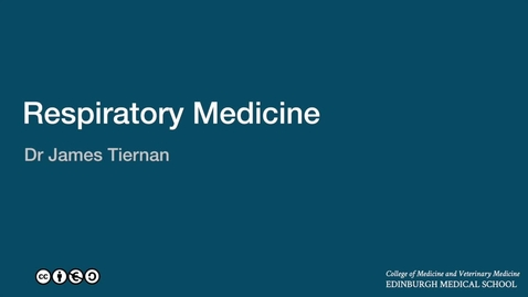 Thumbnail for entry James Tiernan: An introduction to respiratory medicine in the Edinburgh Medical School.