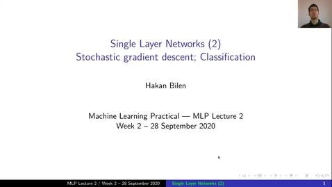 Thumbnail for entry MLP Lecture 02 - Clip 01 - Recap