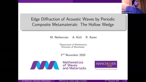 Thumbnail for entry Waves in Complex Continua (Wavinar) - Matthew Nethercote