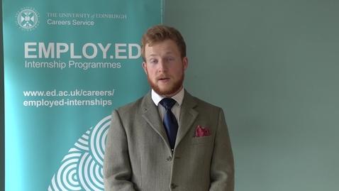 Thumbnail for entry Employ.ed on Campus Intern Case Study - Reinis Rudzitis