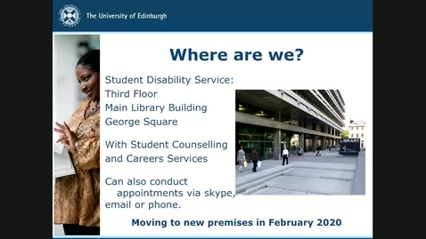 Thumbnail for entry Introduction to the Disability Services