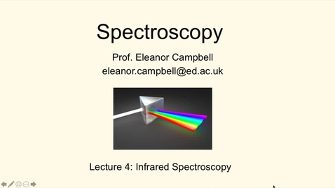 Thumbnail for entry Chem1 Spectroscopy Lecture 4