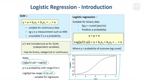 Thumbnail for entry 14. Logistic Regression