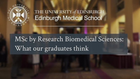 Thumbnail for entry What our graduates thought about their MSc by Research degree