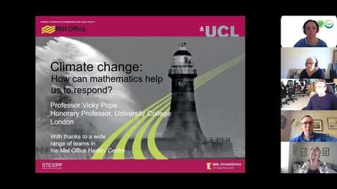 Thumbnail for entry Climate Change: how can mathematics help us to respond?