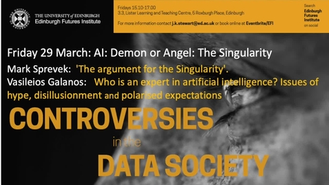 Thumbnail for entry Mark Sprevek - The Singularity - Data Controversies 2019