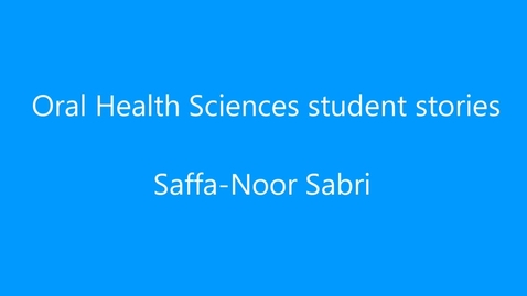 Thumbnail for entry Saffa-Noor Sabri