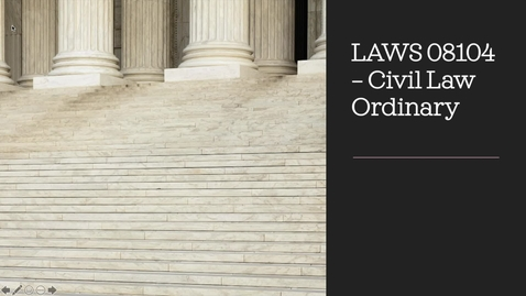 Thumbnail for entry Promotional Clip for Civil Law Ordinary LAWS 08104
