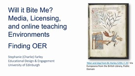 Thumbnail for entry Will it bite me? Media, licensing, and online teaching environments 4: Finding OER