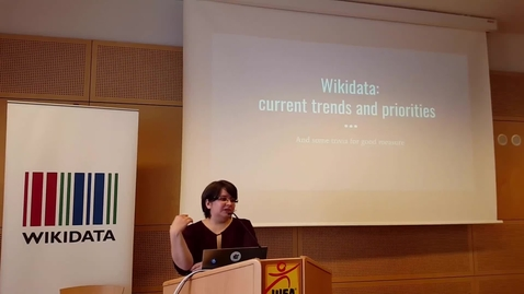 Thumbnail for entry Wikidata: current trends and priorities - Lydia Pintscher at Wikicite 2017