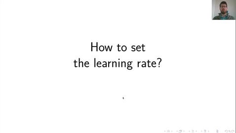 Thumbnail for entry MLP Lecture 05 - Clip 02 - Setting learning rate