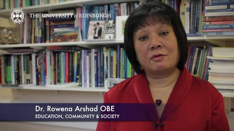 Thumbnail for entry Rowena Arshad -Education, Commnunity & Society -Research In A Nutshell-The Moray House School of Education-23/01/2013