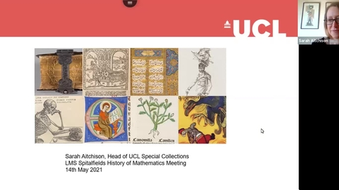 Thumbnail for entry Sarah Aitchison, Head of UCL Special Collections