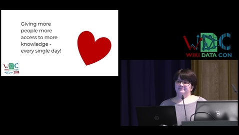 Thumbnail for entry Glimpse over Wikidata - Lydia Pintscher presents the state of the project at WikidataCon 2019