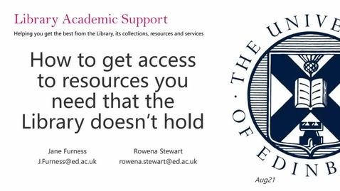Thumbnail for entry (UG) How to get access to library resources you need that the library doesn't hold