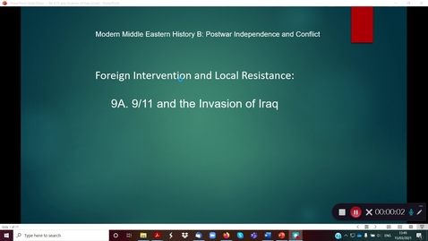 Thumbnail for entry 9A 9.11 and The Invasion of Iraq part 1