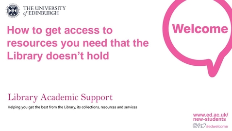 Thumbnail for entry (PG) How to get access to resources you need that the library doesn't hold