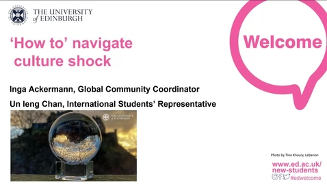 Thumbnail for entry (UG/PG) How-to navigate culture shock