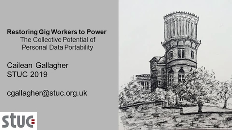 Thumbnail for entry Restoring Gig Workers to Power: Personal Data Portability, Supply of Digital Content and Free Flow of Data in the European Data Economy.