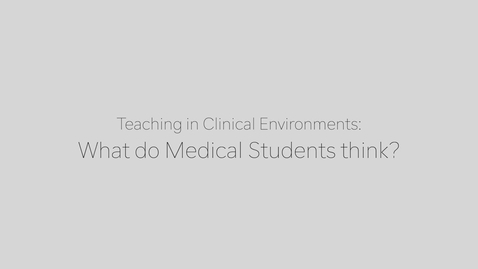 Thumbnail for entry CEP_TCE Medical Student Perspective May 2021
