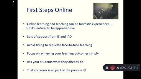 Thumbnail for entry Hybrid and online teaching