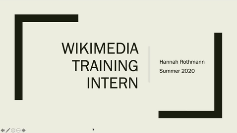 Thumbnail for entry Reflections on the Edinburgh Award - Wikimedia Training Intern, Hannah Rothmann.