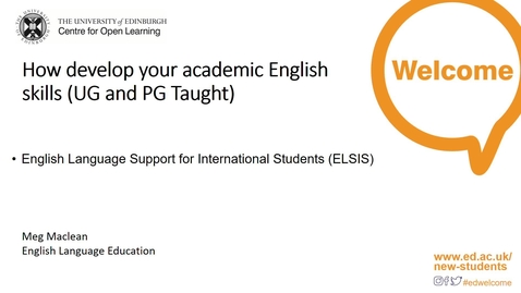 Thumbnail for entry (UG and PGT) ELSIS: How-to Develop Your Academic English Skills