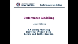 Thumbnail for entry 6.3 Solving Queueing Networks, Product Form Results and Traffic Equation