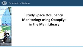 Thumbnail for entry Study Space Occupancy in the Main Library