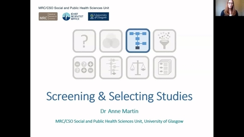 Thumbnail for entry Screening and Selecting Studies - Anne Martin