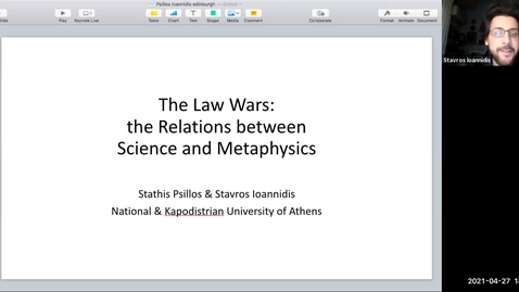 Thumbnail for entry Perspectival Realism - Day 2 - Session 5 - Stathis Psillos - The Law Wars: the Relations Between Science and Metaphysics
