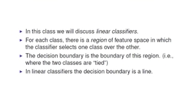 Thumbnail for entry Two-Class Linear Classifier
