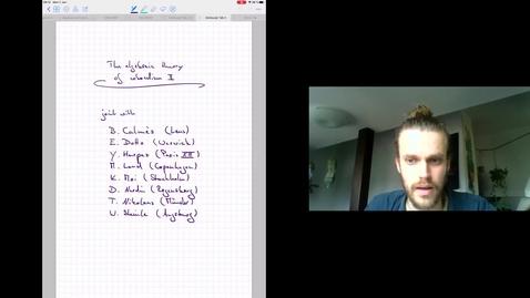 Thumbnail for entry The algebraic theory of cobordism Talk 2 - Fabian Hebestreit