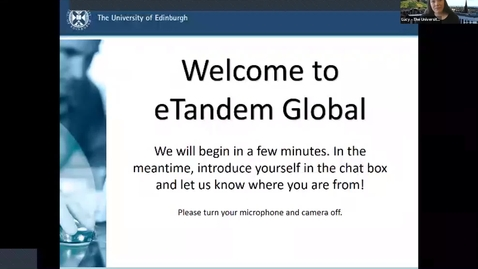Thumbnail for entry eTandem Global Welcome Meeting Oct 2020