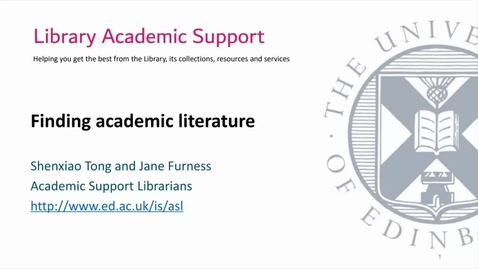 Thumbnail for entry Finding academic literature CAHSS 202110