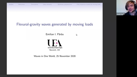Thumbnail for entry Emilian Parau - Flexural-gravity waves generated by moving loads