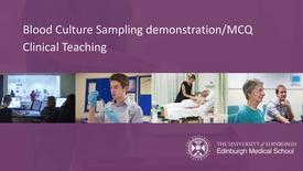 Thumbnail for entry Blood culture Sampling Procedure:MCQ 2