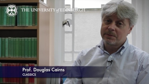 Thumbnail for entry Professor Douglas Cairns -Classics- Research in a Nutshell